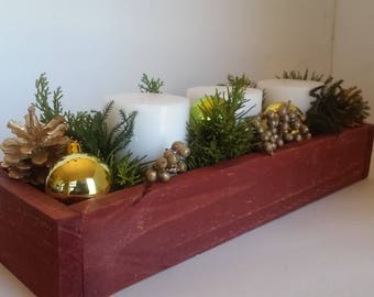16 inch handmade wood planter box