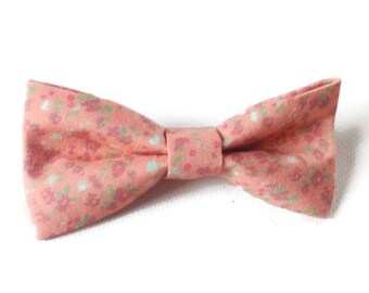 dog bow tie peach bow tie floral bow tie pastel bow tie cat bow tie wedding bow tie ring bearer bow tie pet bow tie puppy bow tie doggy dogs