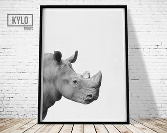 Rhinoceros Print, Rhino Print, Nursery Animals, Safari Animals, Nursery Decor, Instant Download, Rhino Printables, Animal Photography, Gift