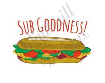 Sub Sandwich- Machine Embroidery Design