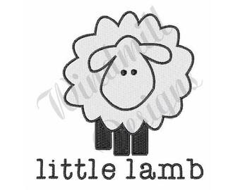 Little Lamb - Machine Embroidery Design