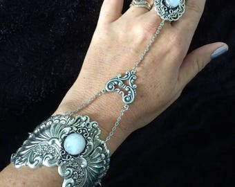 Moonstone harness bracelet