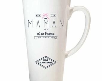 MOM Christmas gift - mug MOM to customize my mom is a Princess - MOM Christmas gift personalized - gift mother's day