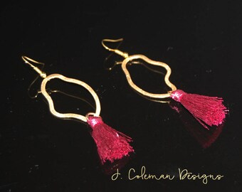 Organic Shapes and tassel Earrings