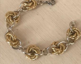 Gold and silver aluminum bracelet