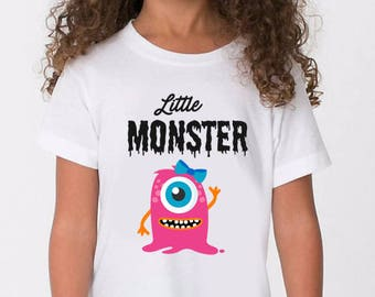 Little Monster Shirt - Toddler Halloween shirt - Kids Halloween Shirt Girls Custom Halloween Shirt