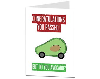 Congratulations Driving Test Card. Pass Driving Test Card. Congratulations You Passed Driving Test Card. Funny Driving Test Card