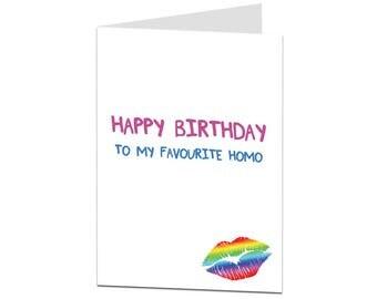Funny Gay Birthday Card. Funny LGBT Birthday Card. Card For Gay. Card For Brother. Joke Gay Card For Him