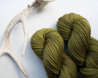 Soft Green Sward {Worsted Weight} Bluefaced Leicester Yarn
