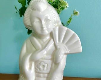 Vintage GEISHA GIRL CERAMIC Cup/Vase
