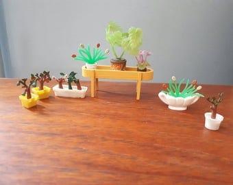 Vintage Lundby Planter and Pot Plants