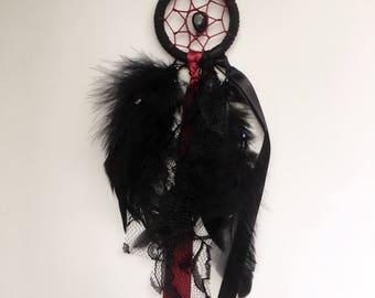 "2"" Black & Burgundy Dreamcatcher - CLEARANCE"