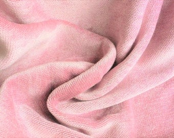 SALE 1 Yard Pink Upholstery Fabric Cotton Velvet Fabric lush pale pink // quality interior designer fabric // By the yard