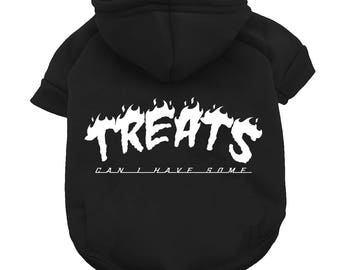 Treats Pet Hoodie - Dog Hoodie - Dog Sweatshirt - dog shirt - dog apparel - dog clothes - dog clothing - funny dog clothing - funny pet tee