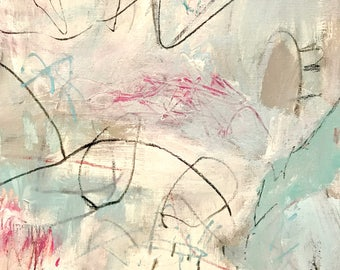 Original Abstract Painting on paper, wall art, modern decor, minimalism