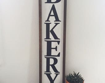Farmhouse bakery sign, kitchen sign, farmhouse kitchen decor, fixer upper decor