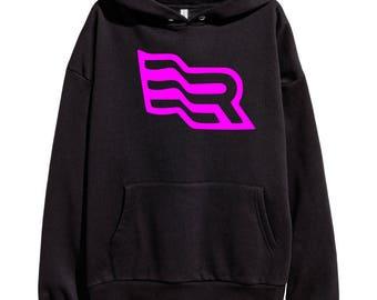 Eminem Revival Flag Pink Logo Hoodie Classic Hip Hop Rap Style Sweatshirt Revival Slim Shady Records Aftermath Entertainment Detroit