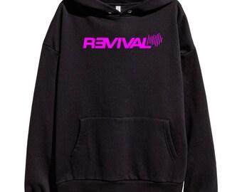 Eminem Revival Pink Logo Hoodie Classic Hip Hop Rap Vintage Style Sweatshirt Revival Slim Shady Records Aftermath Entertainment Detroit