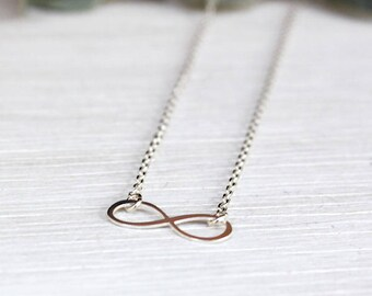 Infinity necklace Sterling Silver 925 on chain