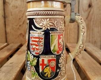 Vintage German Beer Stein, German Beer Stein, Original King Western Germany, King Beer Stein