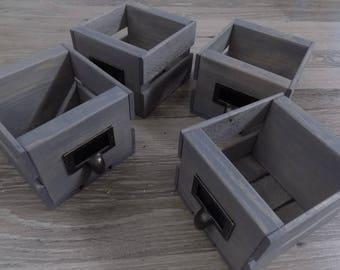 Set of 4 Little Crates / Center Piece