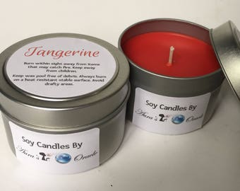 Tangerine 4oz Soy Candle