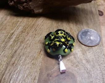 Poison Dart Frog glass pendant