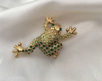Monet Frog brooch