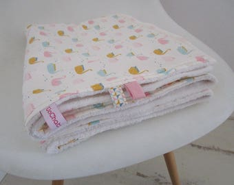 Cotton baby blanket/Plaid and soft fabric * custom *.