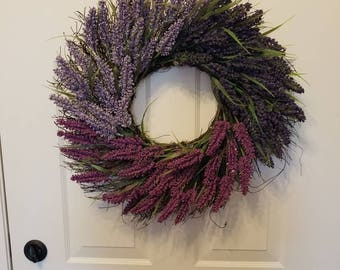 Spring wreath / front door wreath / door wreath / holiday wreath / summer wreath / purple wreath / lavender wreath
