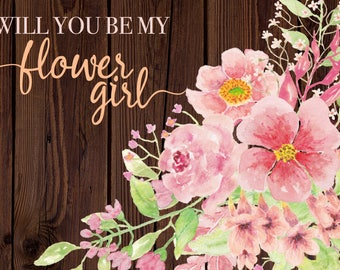 Instant Download! Will You Be My Flower Girl