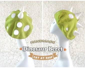 The unique hat for unique personality - Dinosaur Beret - 100% natural wool soft hat
