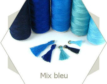 5 spools son tassel DV05 blue Mix