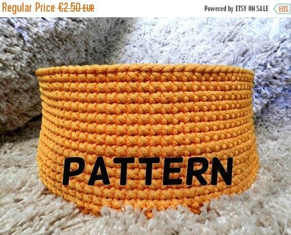 15 % OFF Crochet basket pattern - crochet pattern - pattern pdf - toy basket pattern - round basket pattern - instant digital download