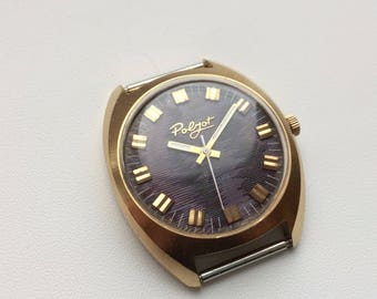 Poljot USSR watch, very good condition, interesting rime ice dial, 70's