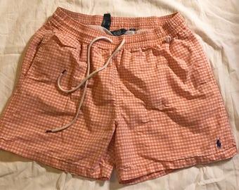Polo Swim trunks vintage Polo Ralph Lauren swimming trunks shorts XL RL vintage shorts preppy street wear 90's Polo