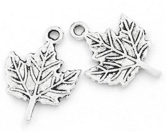 15 19x14mm accessory maple leaf charm pendants