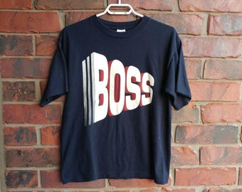 1990s Boss T-Shirt Vintage Hugo Boss Shirt