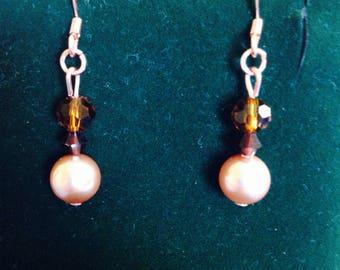 Swarovski Pearl and Crystal Earrings