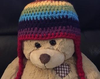 Rainbow Pom Pom Hats