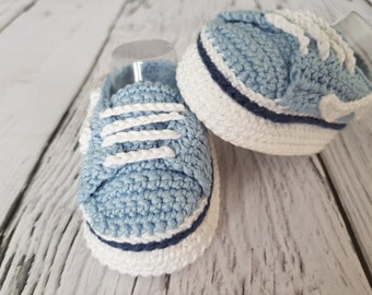 Crochet PATTERN Vans baby sneakers. Baby sneakers vans style. Baby booties pattern. Baby shoes crochet pattern. INSTANT DOWNLOAD
