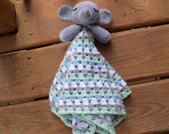 Crochet Elephant Lovey || Baby Blanket | Handmade Baby Shower Gift