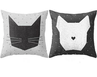 Geometric Cat and Dog Pillow Case