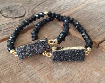 Druzy Bar Bracelet