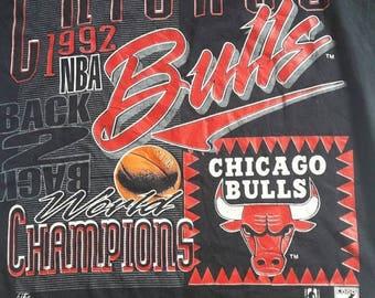 50% SALE Vintage Chicago Bulls 1992 world champion