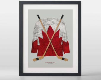 Canadian Pride: 1972 Canada/Russia Summit Series Art Print