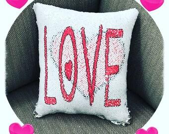 Flip Sequin Pillow Etsy