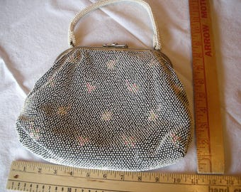Vintage Beaded Purse - Reversible