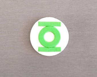 6 x Green Lantern Cupcake toppers,  superhero party, Edible Fondant Green toppers, Edible Fondant Superhero toppers,