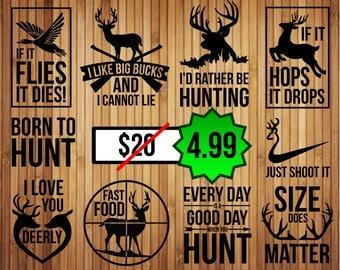 Hunting svg bundle, duck hunting svg, deer hunting svg, buck svg, anthlers svg, deer head svg, hunter svg, svg files for cricut, silhouette